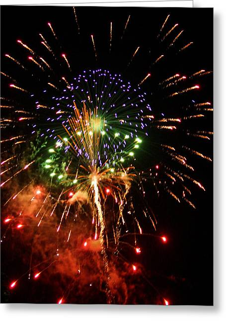 Kim Pate Greeting Cards - Beautiful Fireworks Works Greeting Card by Kim Pate
