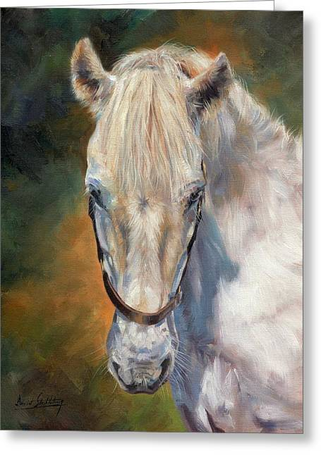 Equine Artist Equine Art Prints Greeting Cards - Beautiful Gem Greeting Card by David Stribbling