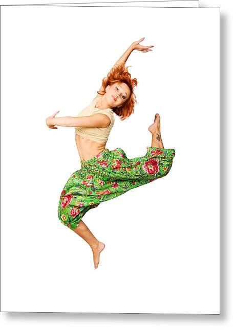 Acrobat Image Greeting Cards - Beautiful girl Greeting Card by Nikita Buida