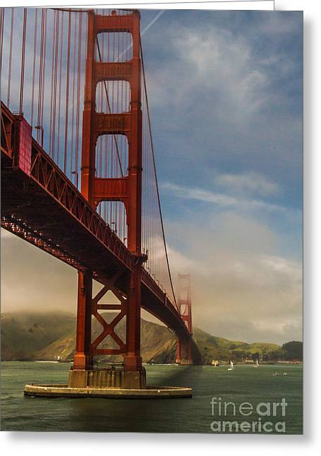 Beautiful Golden Gate Greeting Card by Mitch Shindelbower
