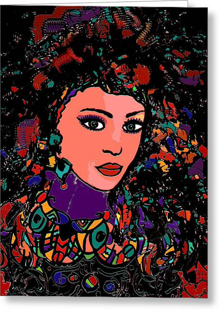 Gypsy Mixed Media Greeting Cards - Beautiful Gypsy Greeting Card by Natalie Holland