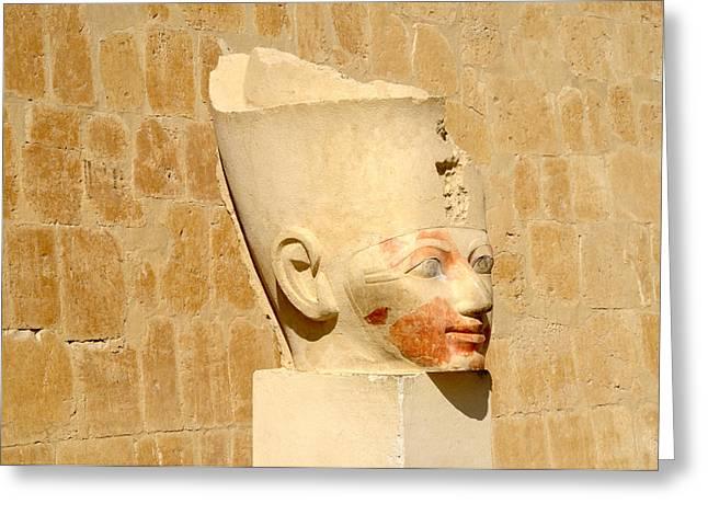 Hathor Greeting Cards - Beautiful Hatshepsut  Greeting Card by Brenda Kean