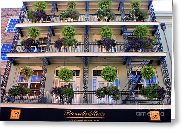 Famous Hotel Greeting Cards - Beautiful Hotel in New Orleans Greeting Card by Carol Groenen