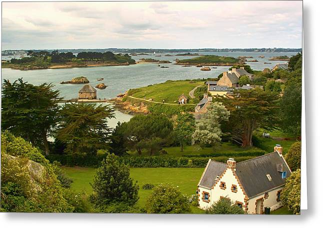 Ocean Vista Greeting Cards - Beautiful Ile-de-Brehat Brittany Greeting Card by Mountain Dreams