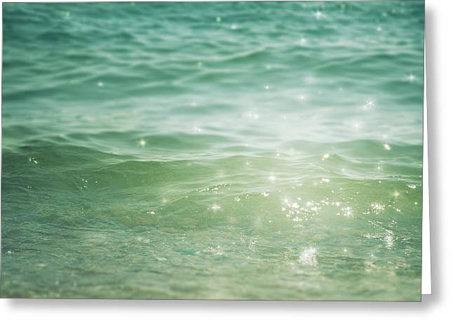 Blue Green Water Photographs Greeting Cards - Beautiful Illusion Greeting Card by Violet Gray
