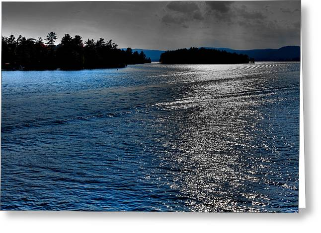 Fir Trees Greeting Cards - Beautiful Lake George - New York Greeting Card by David Patterson
