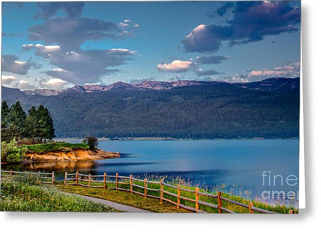 Beautiful Lake View Greeting Card by Robert Bales