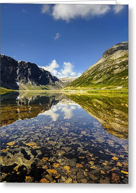 Alga Greeting Cards - Beautiful landscape of Norway Greeting Card by Jan Sieminski