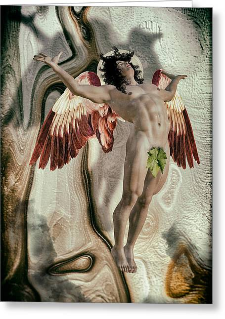 Freethinker Greeting Cards - Beautiful Light - Lucifer Greeting Card by Joaquin Abella