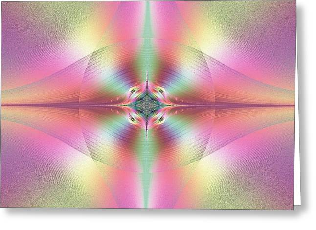Eye Of Heaven Greeting Cards - Beautiful Loving and Merciful Eyes of God Fractal Greeting Card by Rose Santuci-Sofranko