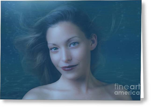 Aquatic Greeting Cards - Beautiful Mermaid Greeting Card by Diane Diederich