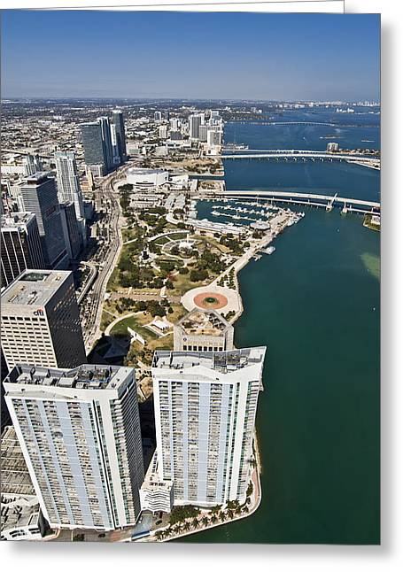 Bayfront Greeting Cards - Beautiful Miami Greeting Card by Patrick M Lynch