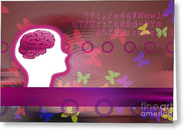 Mentality Greeting Cards - Beautiful Mind Greeting Card by Mailis Laos