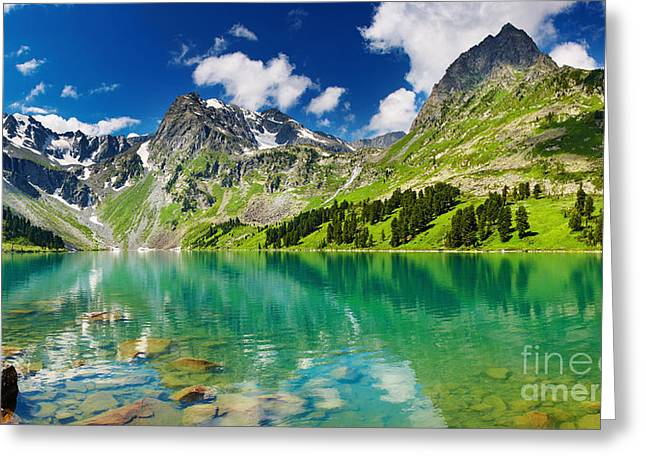 Beautiful Mointain and Lake Greeting Card by Boon Mee
