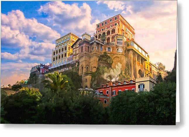 Beautiful Morning On The Italian Coast - Sorrento Greeting Card by Mark E Tisdale