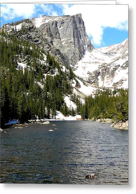 Mountains And Lake Greeting Cards - Beautiful Mountain Greeting Card by Dan Sproul