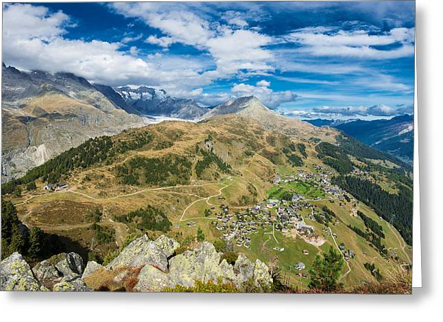 Swiss Photographs Greeting Cards - Beautiful mountain landscape in the Swiss Alps Switzerland Greeting Card by Matthias Hauser