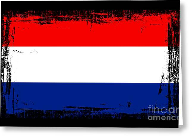 Beautiful Netherlands Flag Greeting Card by Pamela Johnson