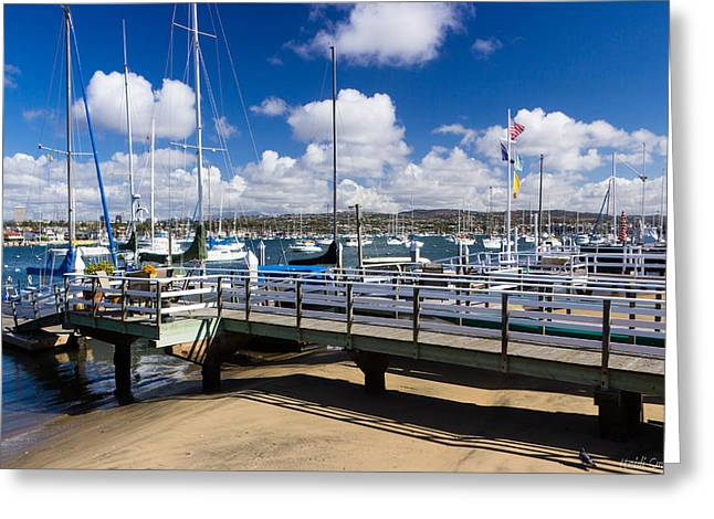 Sailboat Images Greeting Cards - Beautiful Newport Beach Greeting Card by Heidi Smith