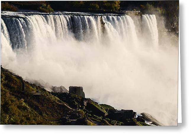 Majestic View Greeting Cards - Beautiful Niagara Falls Greeting Card by Vishwanath Bhat