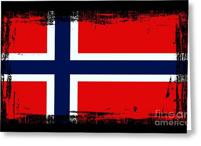 Beautiful Norway Flag Greeting Card by Pamela Johnson