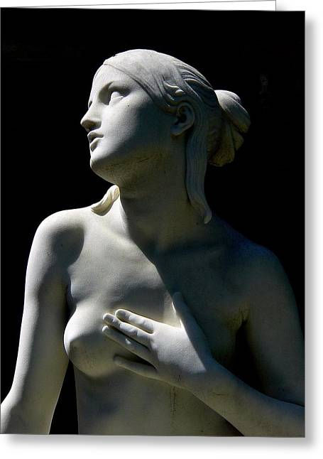 Beautiful Nude Female Statue Greeting Card by Jeff Lowe