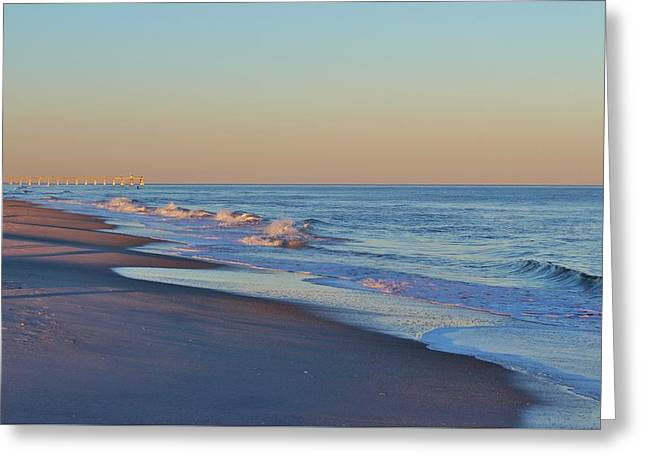 Aquatic Greeting Cards - Beautiful Ocean In NC Greeting Card by Cynthia Guinn