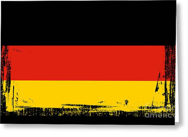 Berlin Mixed Media Greeting Cards - Beautiful Germany Flag Greeting Card by Pamela Johnson