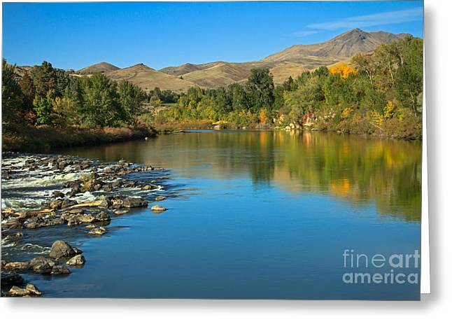 Treasure Valley Greeting Cards - Beautiful Payette River Greeting Card by Robert Bales