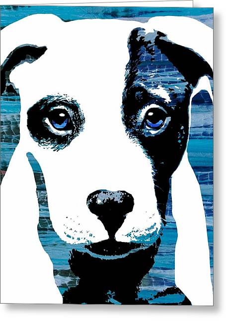 Framed Pit Bull Print Greeting Cards - Beautiful Pit Greeting Card by Cindy Edwards