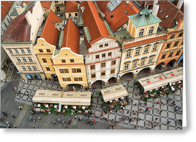 Beautiful Prague From Above - Lovely Old Houses Greeting Card by Matthias Hauser