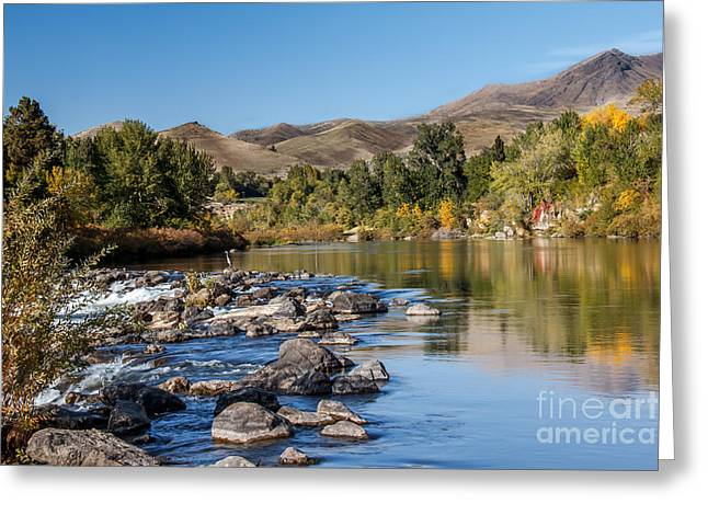 Haybales Greeting Cards - Beautiful River Greeting Card by Robert Bales