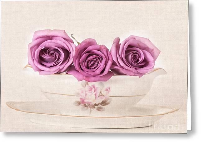 Three Roses Greeting Cards - Beautiful Roses Greeting Card by Carolyn Rauh