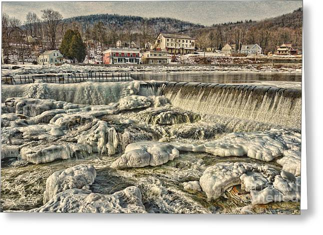 Beautiful Salmon Falls Greeting Card by Thierry Borcy