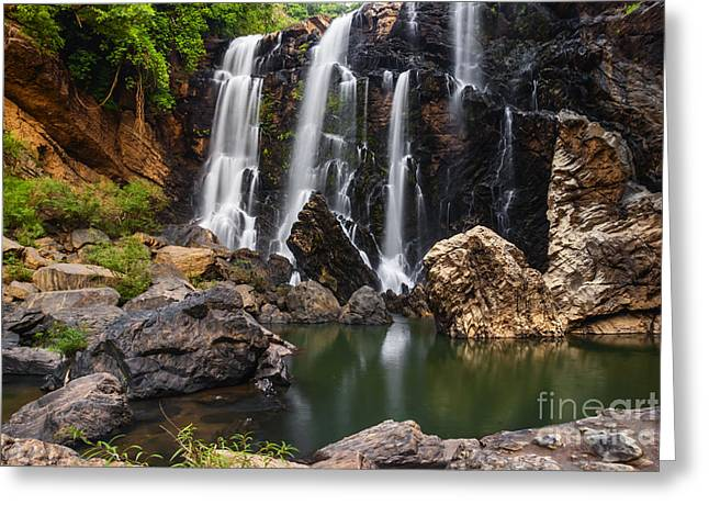 Western Asia Greeting Cards - Beautiful Satoddi Falls in India Greeting Card by Vishwanath Bhat