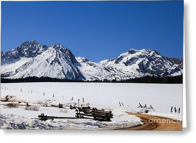 Wow Greeting Cards - Beautiful Sawtooth Mountains Greeting Card by Robert Bales