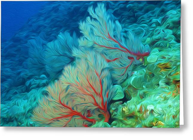 Granulatus Greeting Cards - Beautiful Sea fan coral 1 Greeting Card by Lanjee Chee