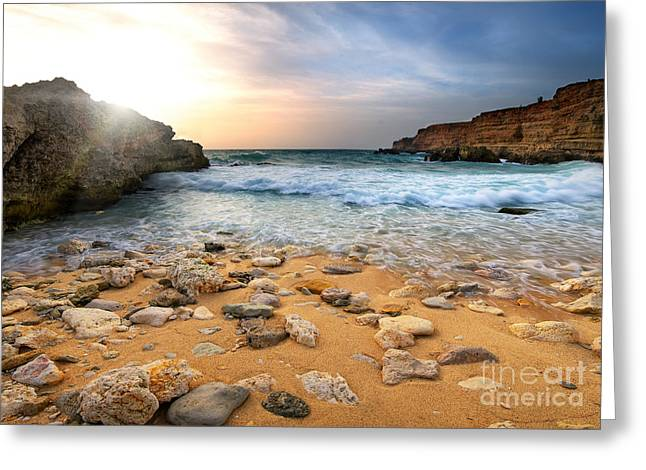 Beautiful Sea Stones Greeting Card by Boon Mee