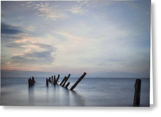 Sunset Scenes. Greeting Cards - Beautiful Seascape Yorkshire Greeting Card by Colin and Linda McKie