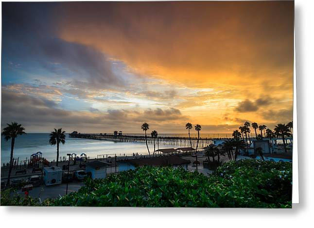 Southern California Sunset Beach Greeting Cards - Beautiful Southern California Sunset Greeting Card by Larry Marshall