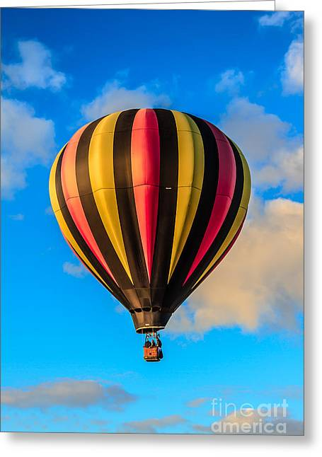 Beautiful Stripped Balloon Greeting Card by Robert Bales
