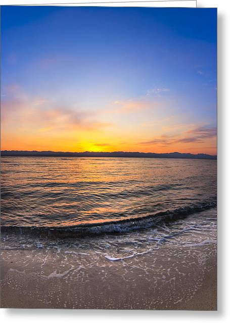 Sinai Photographs Greeting Cards - Beautiful Sunrise On A Red Sea Beach Greeting Card by Mark Tisdale
