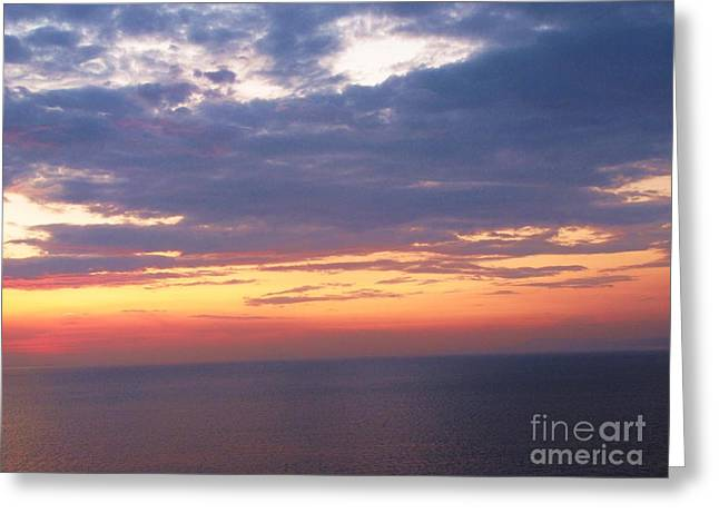 Italian Sunset Greeting Cards - Beautiful Sunrise over the Bay of Naples Greeting Card by Cimorene Photography