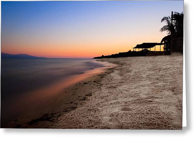 Sinai Photographs Greeting Cards - Beautiful Sunset On The Red Sea Greeting Card by Mark Tisdale