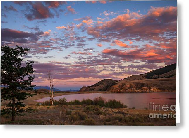 Salmon River Idaho Greeting Cards - Beautiful Sunset Over Mackay Reservoir Greeting Card by Robert Bales