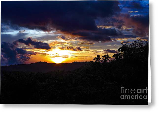 Chang Greeting Cards - Beautiful sunset Greeting Card by Patricia Hofmeester
