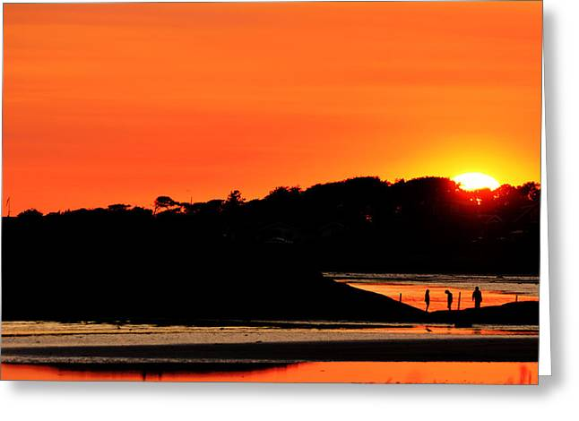 Water Over Rock Greeting Cards - Beautiful sunset  Greeting Card by Toppart Sweden