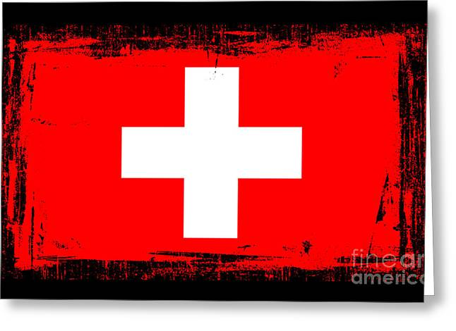 Beautiful Switzerland Flag Greeting Card by Pamela Johnson