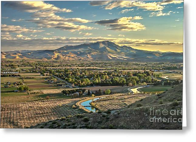 Beautiful Valley Greeting Card by Robert Bales