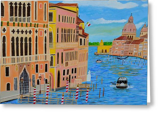 Beautiful Venice Greeting Card by Magdalena Frohnsdorff